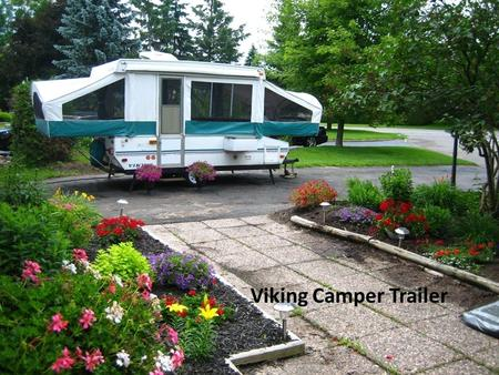 Viking Camper Trailer. Large size (19 feet open- 12 foot box); 3 beds (one queen, one double, one twin); Large kitchen (sink, stove, fridge)+ fresh water.