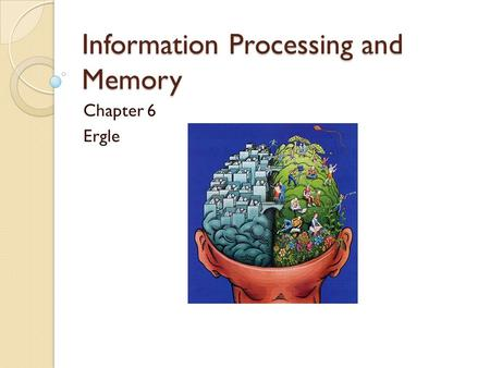 Information Processing and Memory Chapter 6 Ergle.