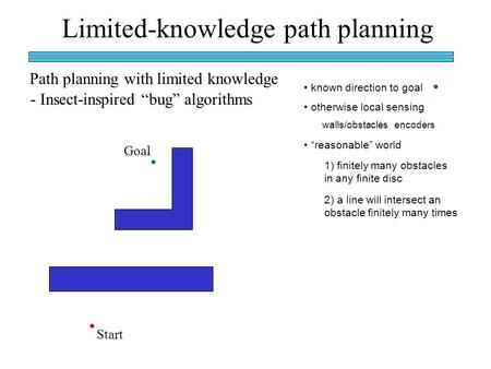 Limited-knowledge path planning