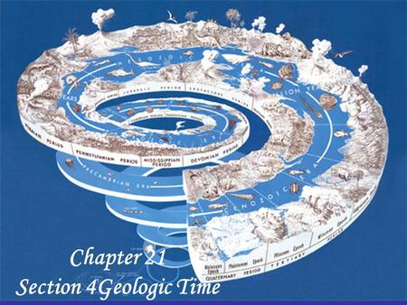 Chapter 21 Section 4Geologic Time. Chapter 21 Section 4 – What You'll Learn - page Before you read - write the reading's objectives in this space: 1 –
