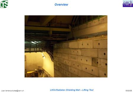 LHCb Radiation Shielding Wall – Lifting Tool Overview.