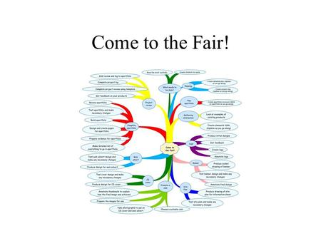 Come to the Fair!. What needs to be done? Read the brief carefully.