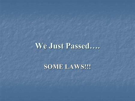 We Just Passed…. SOME LAWS!!!. Municipal reformers challenged the corrupt political machines that ran many major cities.