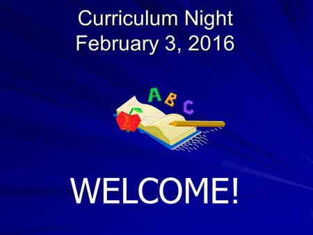 Curriculum Night February 3, 2016 WELCOME!. Agenda Miss Herbaugh: School Counselor Mrs. Swales and Mrs. Taneyhill: GACTC Counselors Mrs. Hurd: Social.