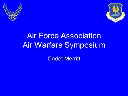 Air Force Association Air Warfare Symposium Cadet Merritt.