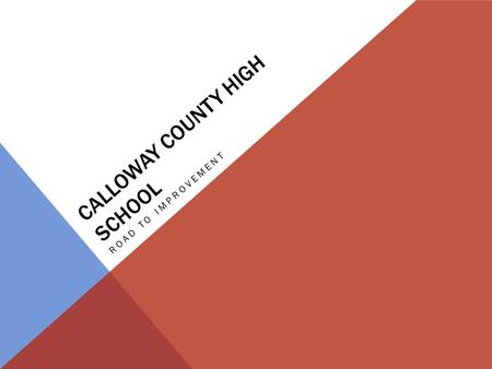 CALLOWAY COUNTY HIGH SCHOOL ROAD TO IMPROVEMENT. Math 2009-2010: 37.44 Math 2010-2011: 61.63 9 th in the state!