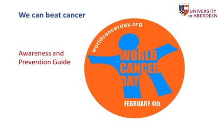 We can beat cancer Awareness and Prevention Guide.