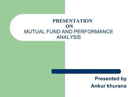 mutual fund in bangladesh present status and performance