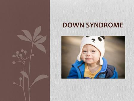 DOWN SYNDROME. Down syndrome In every cell in the human body there is a nucleus, where genetic material is stored in genes. Genes carry the codes responsible.