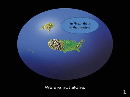 I'm Fine…..that's all that matters 1. Why do we study Geography?????? Population Growth Religion Culture Economies Interaction with the Environment Ideas.