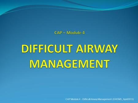 management of the difficult and failed airway pdf