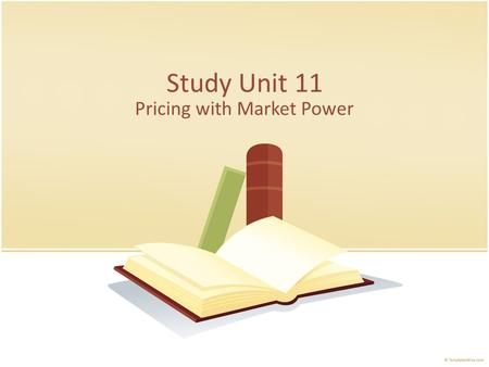 Study Unit 11 Pricing with Market Power. Why and how is consumer surplus captured. How is price discrimination used to capture consumer surplus. How is.