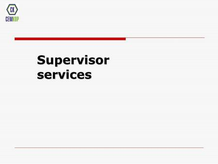 Supervisor services. Project manager Technological group Chief supervisor Supervisors facilities HSE Quality engineer HSE engineer Administrative support.