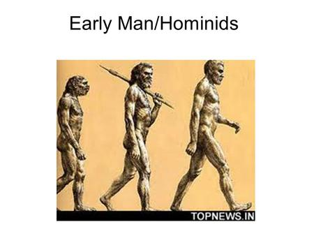 Early Man/Hominids. Vocab Hominids Anthropologist Remains Biped Migrate Land-Bridge Paleoanthropologist Use your book or a dictionary to define these.