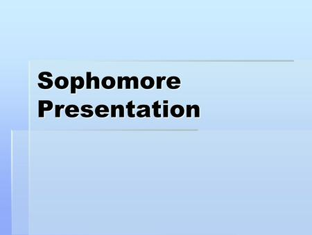 Sophomore Presentation. Assignment  You will be giving a 5 minute speech and Power Point presentation.  The topic is: If you could travel anywhere in.