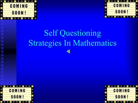 Self Questioning Strategies In Mathematics What Is Self Questioning? Self questioning is a learning strategy which can guide a learner's performance.