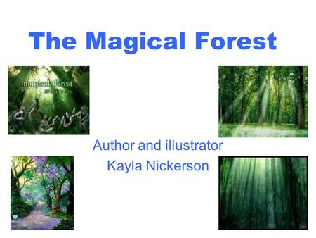 The Magical Forest Author and illustrator Kayla Nickerson.