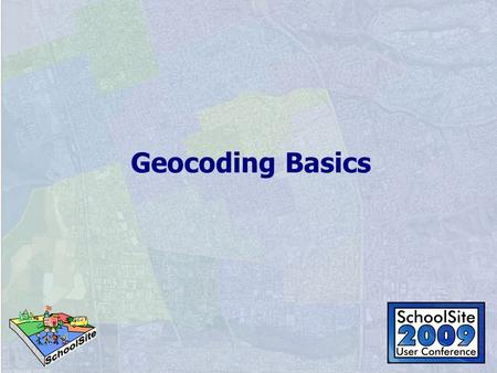 Geocoding Basics. Getting Started Understanding the theory Create Address Locator Geocode Introduction to more advanced methods.