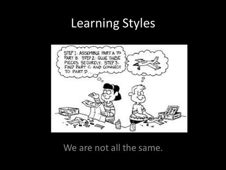 Learning Styles We are not all the same.. Learning Cycle – Booklet page 5 Image retrieved on May 10/15 from