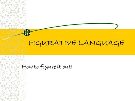 FIGURATIVE LANGUAGE How to figure it out! Figurative Language v.s. Literal Language What's the Difference??