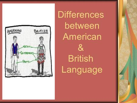 Differences between American & British Language. Prepared by: Supervised by: Dr. Enaam Briman 1-Bayan-Al- Bather 2- Sara Al – Rasheed 3-Nada Ol- Ojayan.