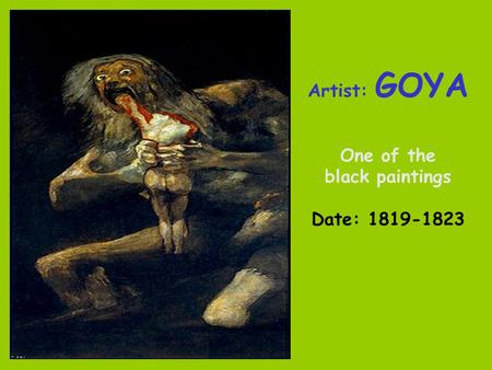 Artist: GOYA One of the black paintings Date: 1819-1823.