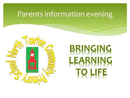 Parents information evening. The timetable As well as these things computing is used across the curriculum to support learning and the class will have.