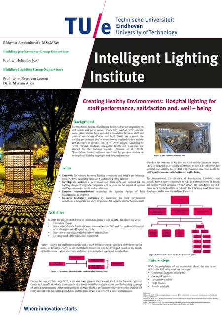 Creating Healthy Environments: Hospital lighting for staff performance, satisfaction and, well – being Background Based on the outcome of the first site.