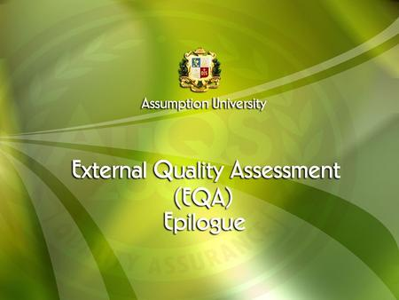 "Quality assurance is defined as : "" All those planned and systematic actions necessary to provide adequate confidence that a product or service will satisfy."