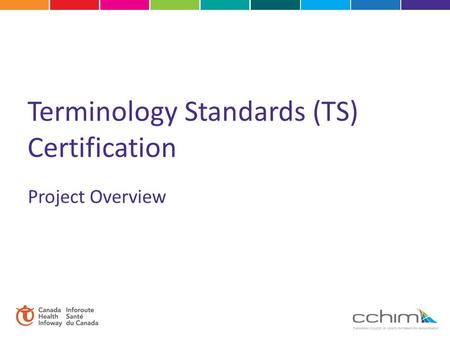 Terminology Standards (TS) Certification Project Overview.