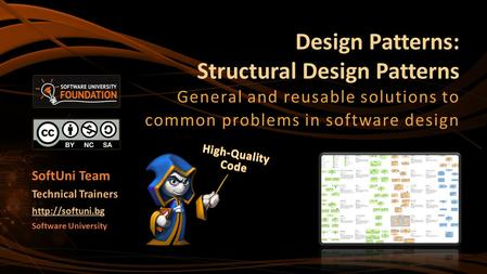 Design Patterns: Structural Design Patterns General and reusable solutions to common problems in software design Software University