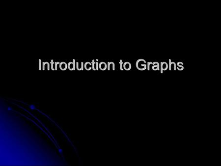 Introduction to Graphs. Dependent variable is on the vertical axis (Y) Dependent variable is on the vertical axis (Y) Independent variable is on the horizontal.