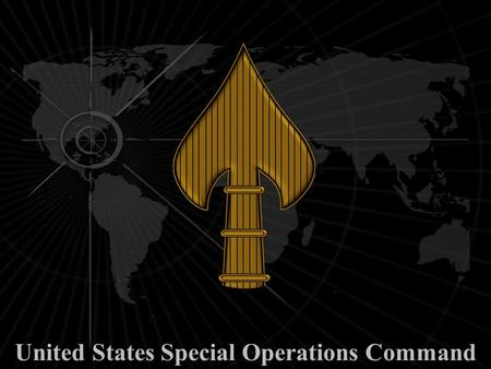 United States Special Operations Command. United States Special Operations Forces.