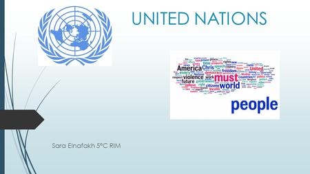 UNITED NATIONS Sara Elnafakh 5°C RIM. INDEX:  United Nations United Nations  Main organs Main organs  Issues Issues  General Secretary General Secretary.
