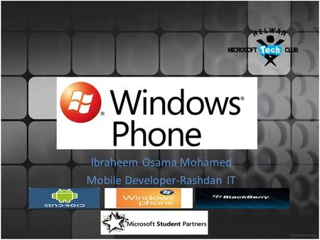 Ibraheem Osama Mohamed Mobile Developer-Rashdan IT.
