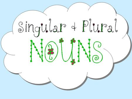 Singular Nouns A singular noun names one person, place, or thing. The boy saw a bird at the beach. Can you name all of the singular nouns in that sentence?