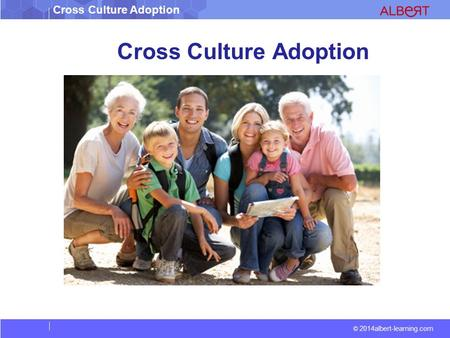 Cross Culture Adoption © 2014albert-learning.com Cross Culture Adoption.