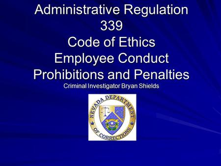 how are ethics applicable in a criminal investigation That the matter is under criminal investigation and the employee is subject to prosecution the  investigative interviewing: strategies and techniques page 4.