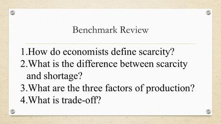 Difference Between Scarcity and Shortage