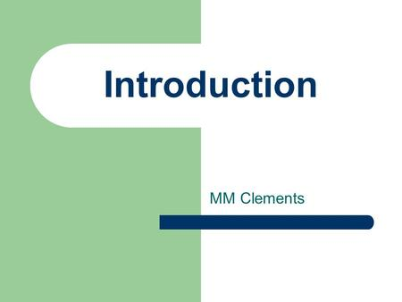 MM Clements Introduction. Course details Advanced Switching & Network Troubleshooting ELEE1065 Advanced Network Design ELEE1121 Taught together but assessed.