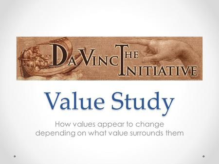 Value Study How values appear to change depending on what value surrounds them.