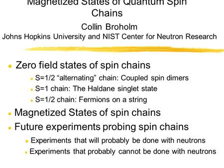 Magnetized States of Quantum Spin Chains