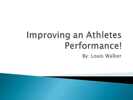 By: Louis Walker. Athletes are always looking to improve their skills in every aspect of the game to get ahead of their competition. Many commercial gyms.