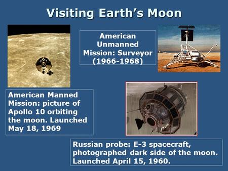 American Unmanned Mission: Surveyor ( )