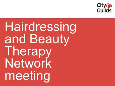 Hairdressing and Beauty Therapy Network meeting. 3007 Beauty, Nails and Spa NVQs.