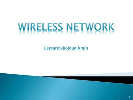 1.  What is a wireless network ₋ Wireless Network vs. a Wired Network ₋ The Benefits  Wireless Personal Area Network ₋ <strong>Bluetooth</strong> Architecture ₋ <strong>Bluetooth</strong>.
