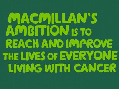 2 A short history of Macmillan Founded by Douglas Macmillan in 1911. He aimed to provide all people affected by <strong>cancer</strong> with: advice and information free.