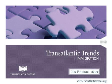 2 Transatlantic Trends: Immigration TTI is a public opinion survey conducted using randomized telephone interviews In each country around 1,000 people.