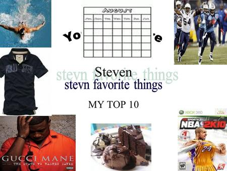 MY TOP 10 Steven. My favorite class in school Some reasons why I like swimming is because it helps me get my strength up and it helps me breath longer.