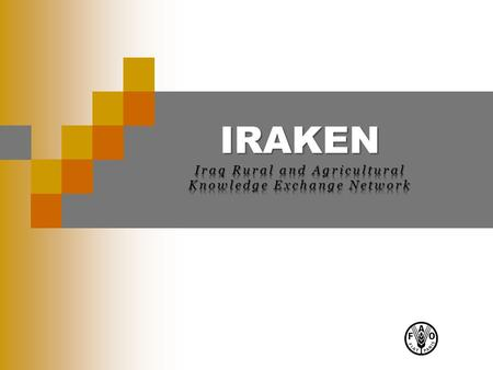 IRAKEN. 2 What is IRAKEN ? Iraq Rural and Agricultural Knowledge Exchange Network (IRAKEN) is a National platform for Information and knowledge sharing.